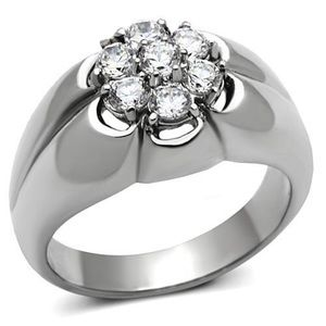 Other - STAINLESS STEEL Men's AAA Grade CZ Cluster Ring